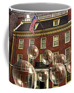 Bubbles Of New York History - Photo Collage Coffee Mug