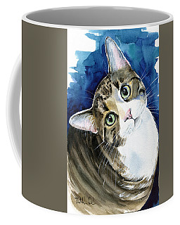 Bubbles - Tabby Cat Painting Coffee Mug