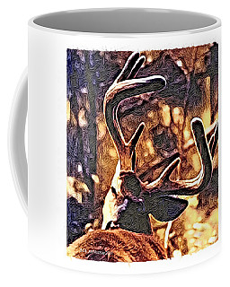 Coffee Mug featuring the digital art Buck by Art MacKay
