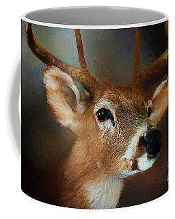 Coffee Mug featuring the photograph Buck by Darren Fisher