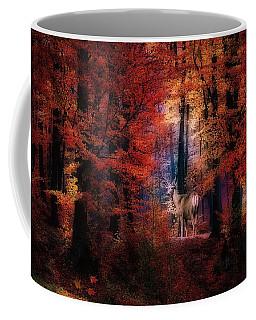 Buck In The Autumn Woods Coffee Mug