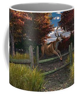 Coffee Mug featuring the digital art Buck Jumping by Mary Almond