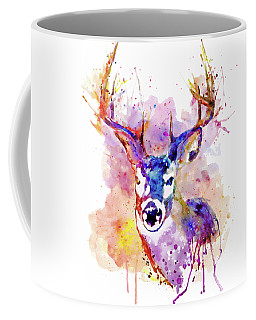 Coffee Mug featuring the mixed media Buck by Marian Voicu