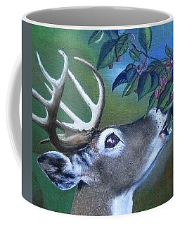 Coffee Mug featuring the painting Buck by Mary Ellen Frazee