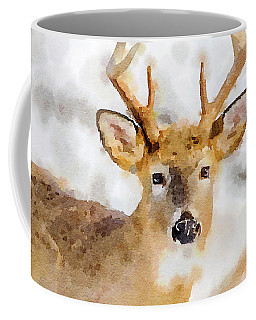 Coffee Mug featuring the painting Buck Profile by Steven Santamour