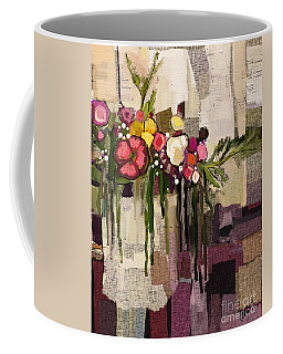Coffee Mug featuring the painting Bucket Of Flowers by Carrie Joy Byrnes