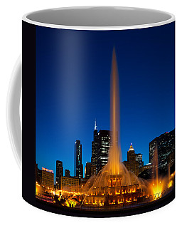 Buckingham Fountain Nightlight Chicago Coffee Mug