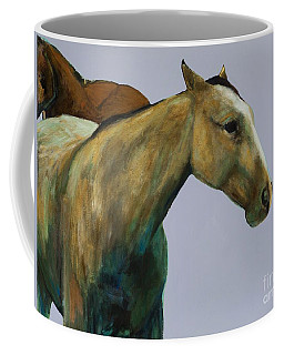 Coffee Mug featuring the painting Buckskin by Frances Marino