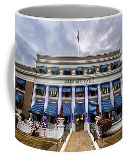 Coffee Mug featuring the photograph Buckstaff Bathhouse - Christmas by Stephen Stookey
