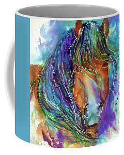 Bucky The Mustang In Watercolor Coffee Mug
