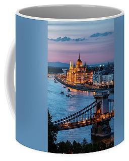 Budapest City At Dusk Coffee Mug