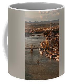 Budapest In The Morning Sun Coffee Mug by Jaroslaw Blaminsky