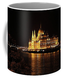 Coffee Mug featuring the digital art Budapest - Parliament by Pat Speirs