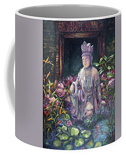 Budda Statue And Pond Coffee Mug
