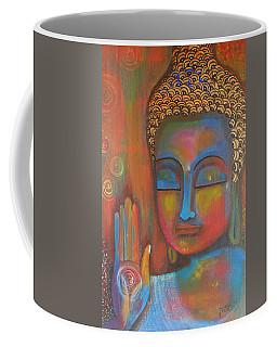 Buddha Blessings Coffee Mug by Prerna Poojara