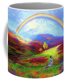 Buddha Chakra Rainbow Meditation Coffee Mug by Jane Small