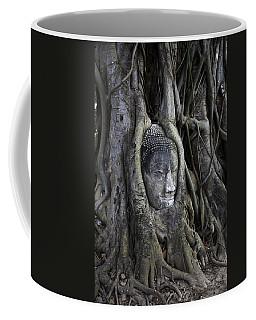 Buddha Head In Tree Coffee Mug