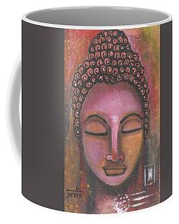 Buddha In Shades Of Purple Coffee Mug