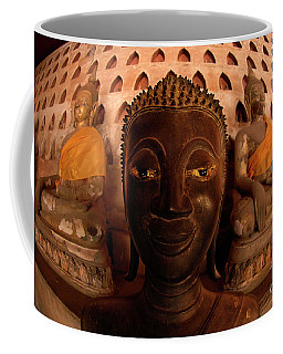 Coffee Mug featuring the photograph Buddha Laos 1 by Bob Christopher