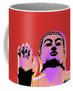 Coffee Mug featuring the digital art Buddha Pop Art  by Jean luc Comperat