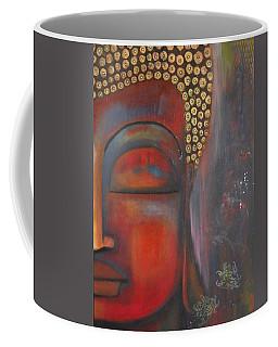Buddha With Floating Lotuses Coffee Mug by Prerna Poojara