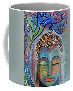 Buddha With Tree Of Life Coffee Mug by Prerna Poojara