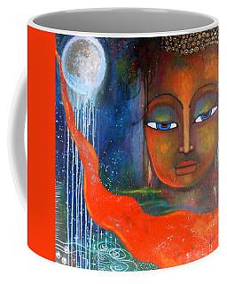 Buddhas Robe Reaching For The Moon Coffee Mug by Prerna Poojara
