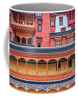 Coffee Mug featuring the photograph Buddhist Monastery Building by Alexey Stiop