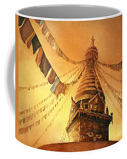 Buddhist Stupa- Nepal Coffee Mug by Ryan Fox
