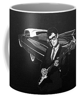 Buddy Holly And 1959 Cadillac Coffee Mug