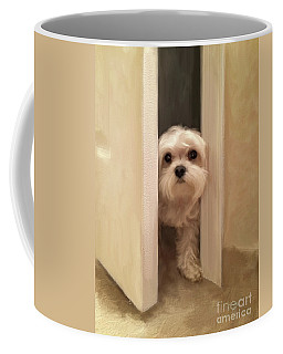 Coffee Mug featuring the photograph Hello by Lois Bryan