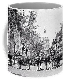 Budweiser Clydesdale Horses In Prohibition Washington D C Coffee Mug