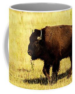 Buffalo At Lamar Valley Yellowstone Coffee Mug