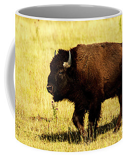 Buffalo At Lamar Valley Yellowstone Coffee Mug