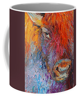 Buffalo Bison Wild Life Oil Painting Print Coffee Mug