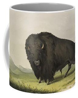 Buffalo Bull Grazing 1845 Coffee Mug