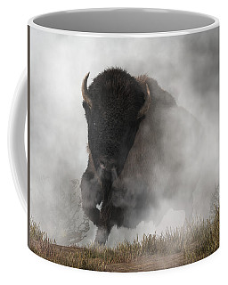 Buffalo Emerging From The Fog Coffee Mug