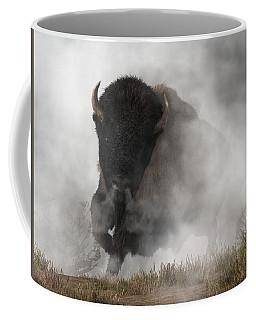 Buffalo Emerging From The Fog Coffee Mug by Daniel Eskridge