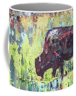 Coffee Mug featuring the painting Buffalo Grazing by Cheryl McClure