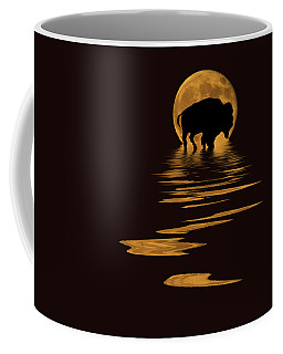 Buffalo In The Moonlight Coffee Mug