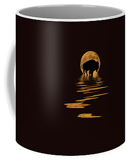 Buffalo In The Moonlight Coffee Mug
