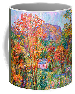 Coffee Mug featuring the painting Buffalo Mountain In Fall by Kendall Kessler