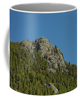 Coffee Mug featuring the photograph Buffalo Rock With Waxing Crescent Moon by James BO Insogna