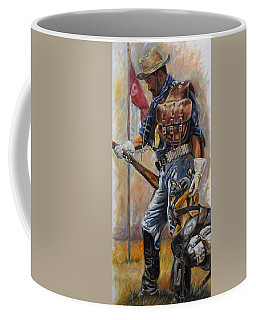 Coffee Mug featuring the painting Buffalo Soldier Outfitted by Harvie Brown