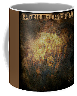 Coffee Mug featuring the digital art Buffalo Springfield - Sepia by Absinthe Art By Michelle LeAnn Scott