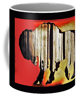 Coffee Mug featuring the photograph  Wooden Buffalo 3 by Larry Campbell