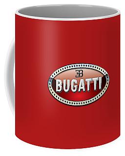 Bugatti - 3 D Badge On Red Coffee Mug