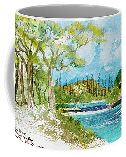 Bugny Trees At Kanumera Bay, Ile Des Pins Coffee Mug