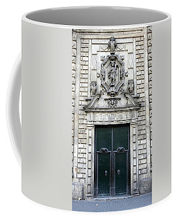Building Artwork And Old Door In Barcelona Coffee Mug by Richard Rosenshein