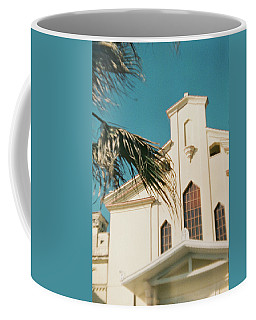 Building Behind Palm Tree In Ostia, Rome Coffee Mug